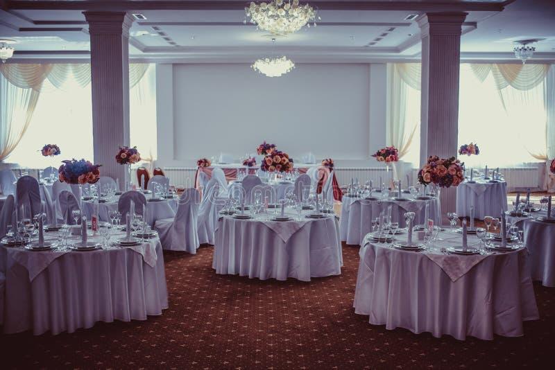 Installation impressionnante et belle de mariage Foyer sélectif toned photographie stock