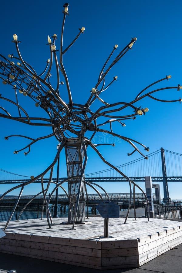 Installation interactive à San Francisco images libres de droits