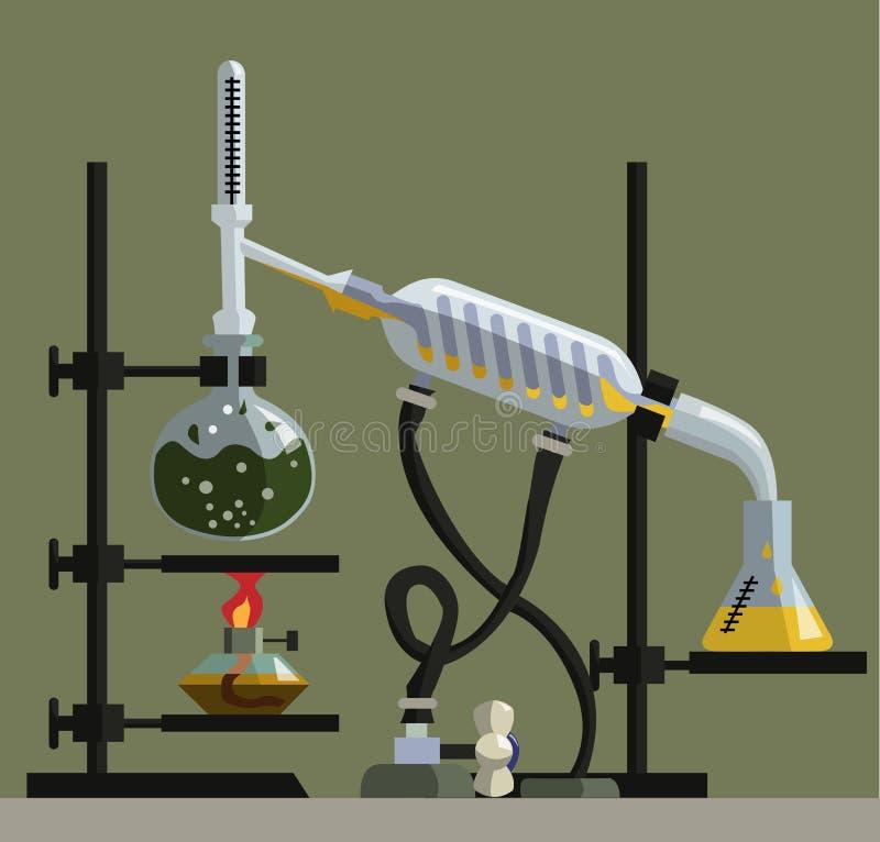 Installation pour la synthèse de illustration de vecteur