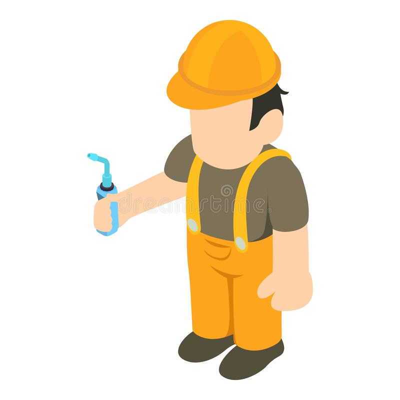 Installation specialist icon, isometric style. Installation specialist icon. Isometric illustration of installation specialist vector icon for web stock illustration