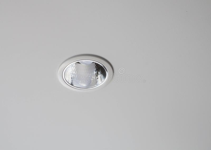 Spot Lamp In The Gypsum Board Ceiling Stock Image - Image of