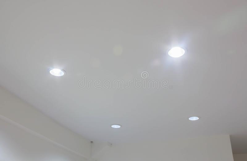 Download Installation Spot Lamp In The Gypsum Board Ceiling Stock Photo    Image Of Frame,
