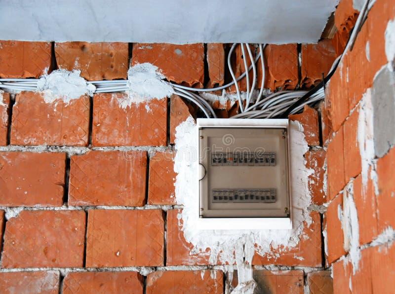 Installations électriques photographie stock