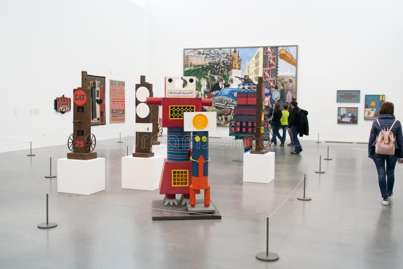 Installations collectives dans Tate Modern célèbre à Londres photographie stock libre de droits