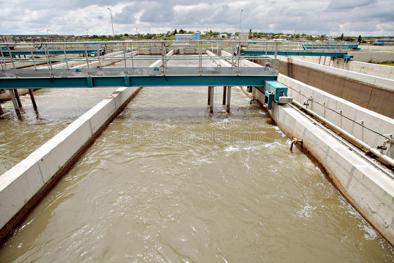 Installations de traitement des effluents  images stock