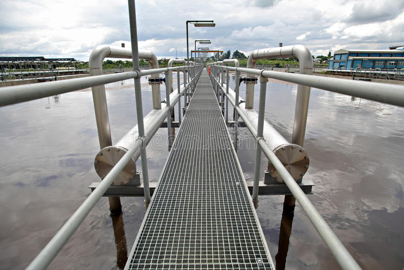 Installations de traitement des effluents  photographie stock