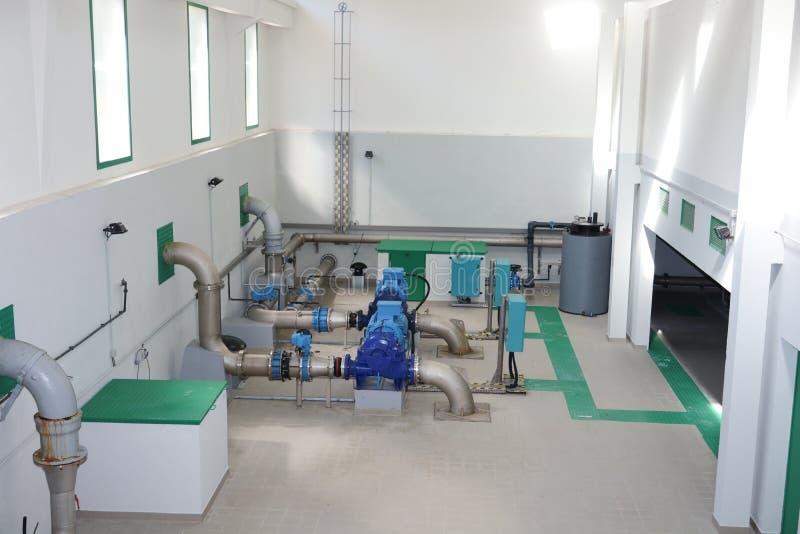 Installations de traitement de l'eau de Waterworks image libre de droits