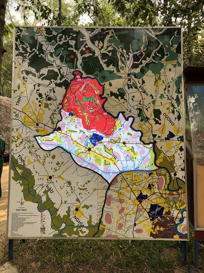 Installations militaires dans Cuchi pour empêcher l'invasion des troupes des USA photo stock