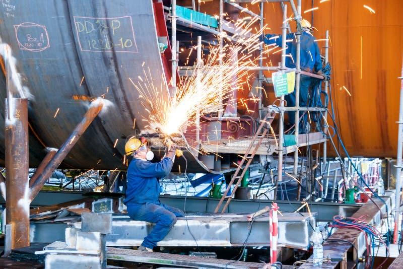 Installatore di costruzione navale fotografie stock libere da diritti