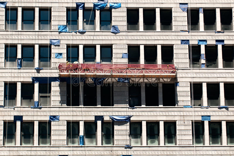 Installazione delle finestre di vetro immagini stock libere da diritti
