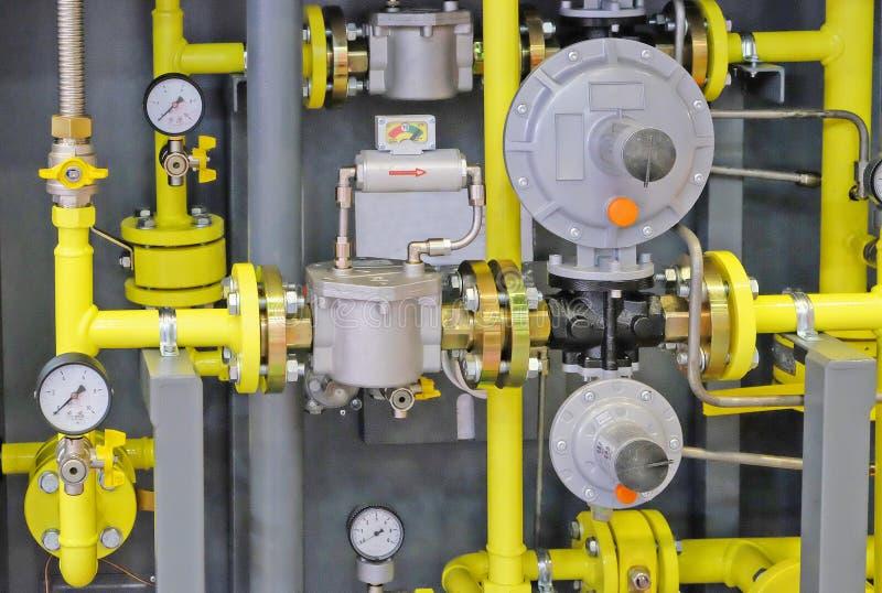 Installazione di controllo di gas fotografie stock libere da diritti