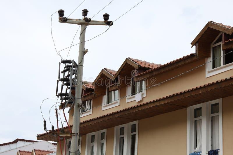Installazione elettrica adiacente all'appartamento immagini stock