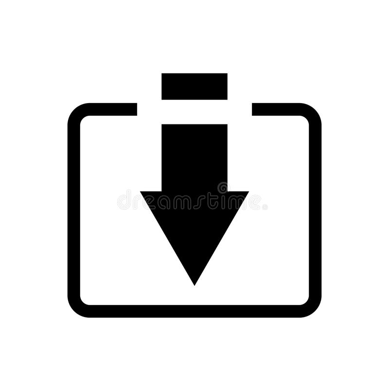 Installeert het download vectorpictogram, symbool Moderne, eenvoudige vlakke vectorillustratie voor website of mobiele app vector illustratie