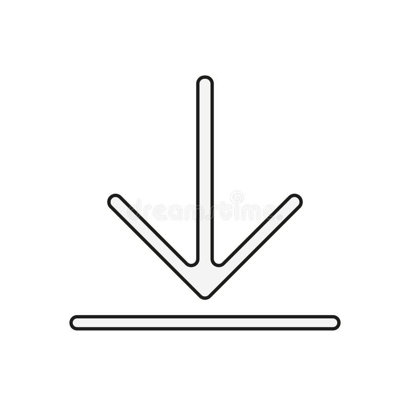 Installeert het download vectorpictogram, symbool Moderne, eenvoudige vlakke vectorillustratie voor website of mobiele app royalty-vrije illustratie