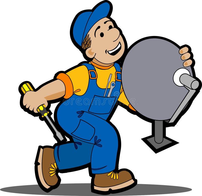 installer satelita ilustracji