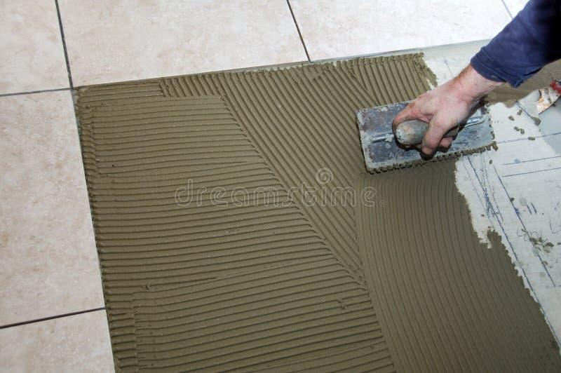 Installing Ceramic Tile Stock Photos