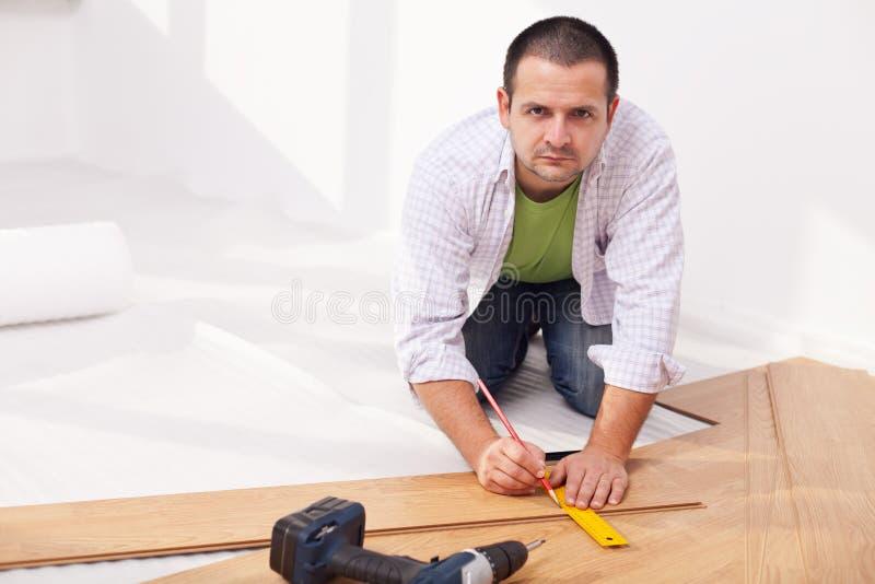 Download Installing Laminate Flooring Stock Photo - Image: 23234780