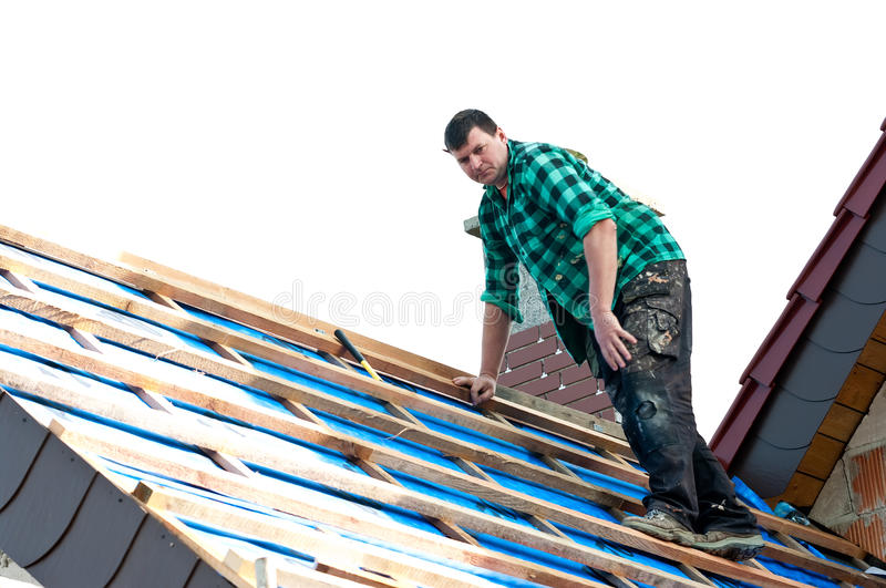 Download Installing roofing stock photo. Image of male, climb - 16263956