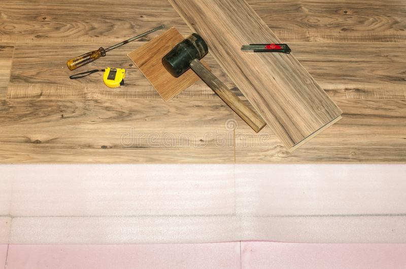 Installing Wooden Laminate Flooring With Insulation In The House