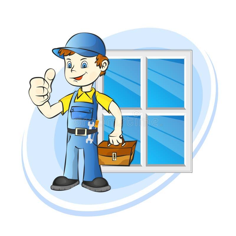 Instalować okno usługa ilustracji