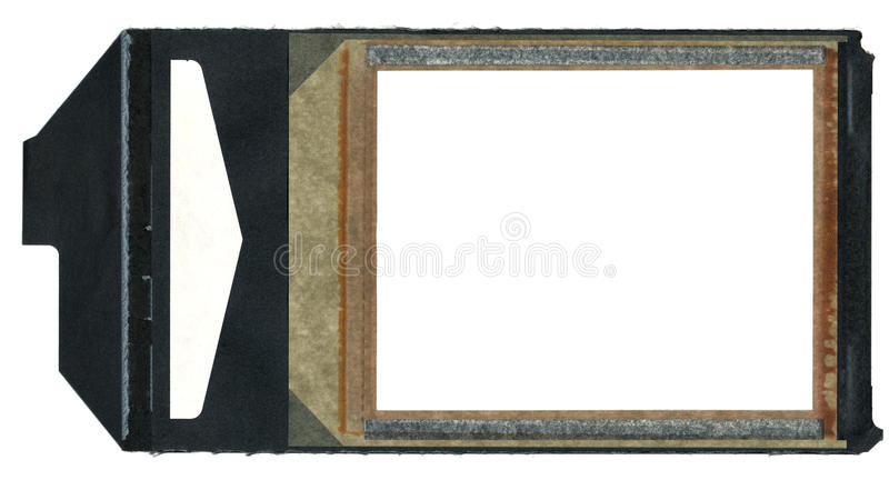 Instamatic Film Border with Black Pull Tab stock photography