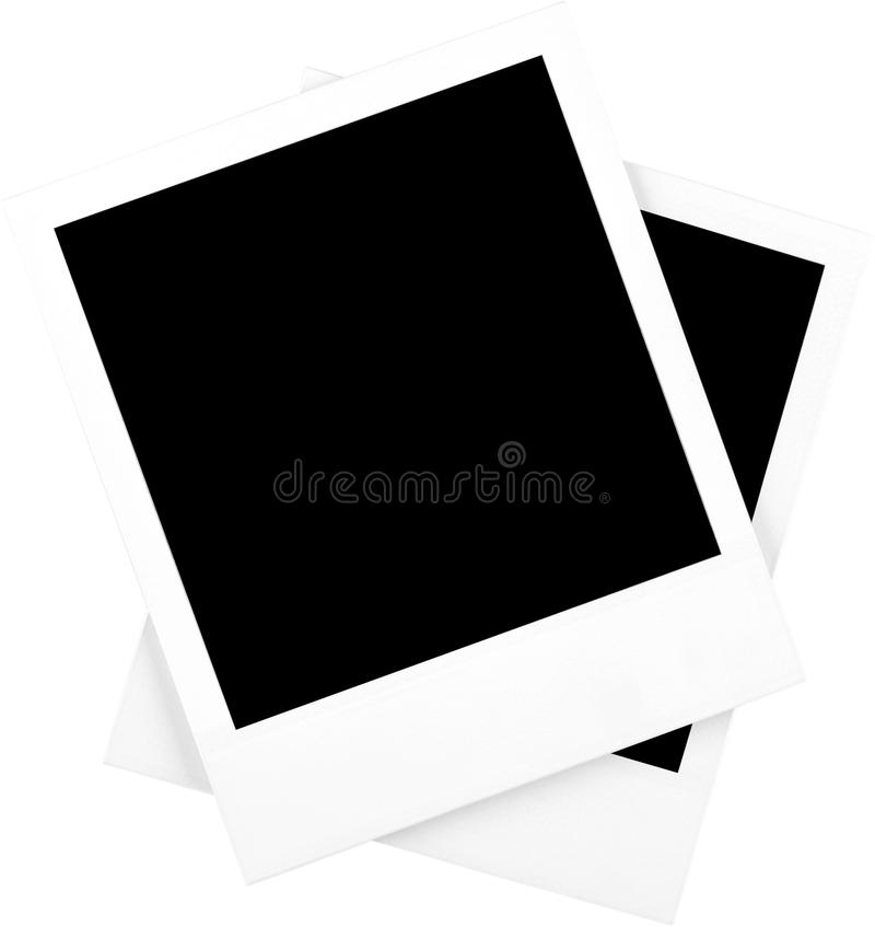 Two Blank Polaroid Frames - Isolated royalty free stock photo