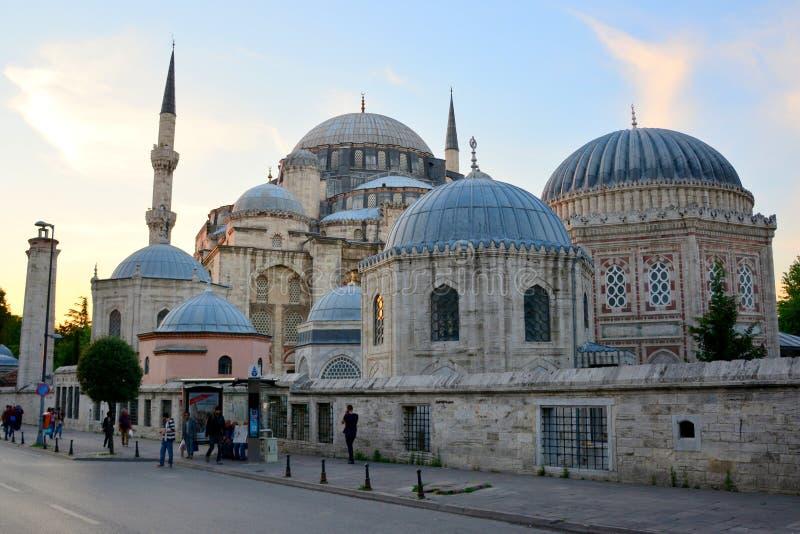 Instanbul, mesquita bonita de Turquia minaret fotos de stock