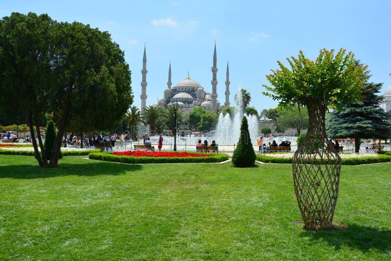 Instanbul, Turkije Blauwe moskee royalty-vrije stock afbeeldingen