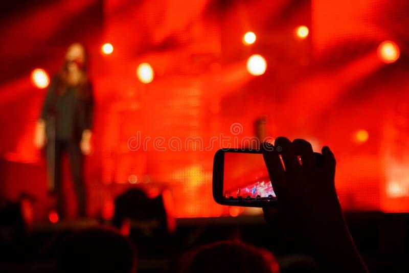 Instantâneo do concerto fotografia de stock royalty free