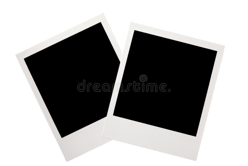 Instantâneo do polaroid do vintage isolado no branco fotos de stock royalty free