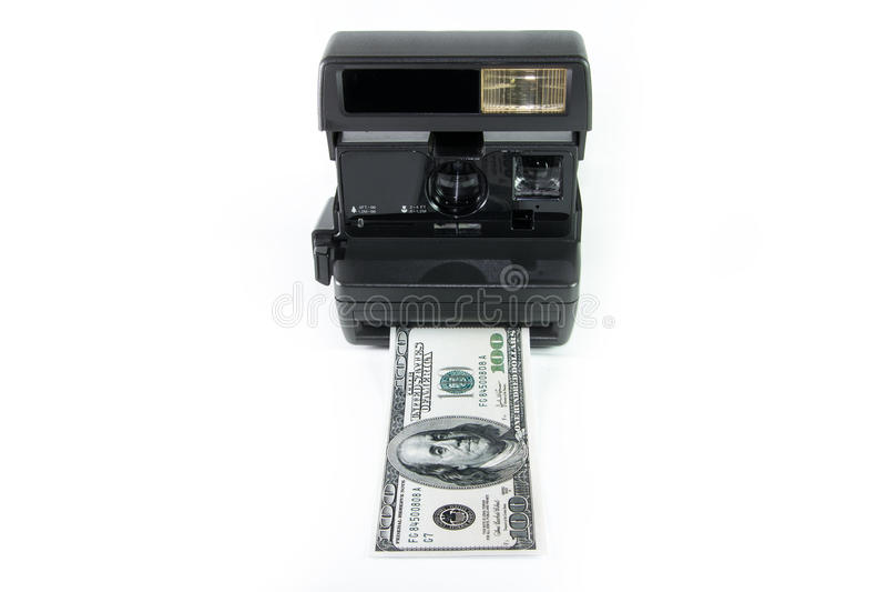 Download Instant Cash stock image. Image of camera, obsolete, dollars - 28723849