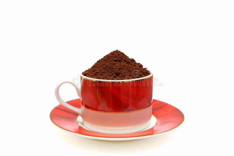 Instant coffee isolated on white background stock photos