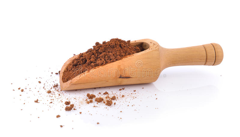 Instant coffee in the scoop royalty free stock photos