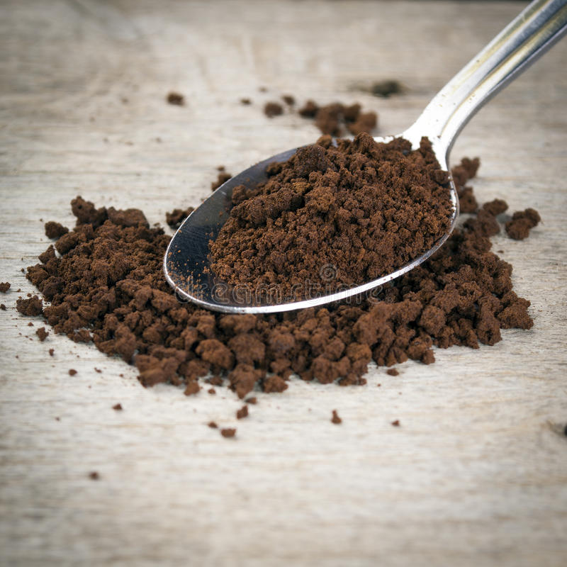 Download Instant Coffee In The Spoon Stock Image - Image: 26201353