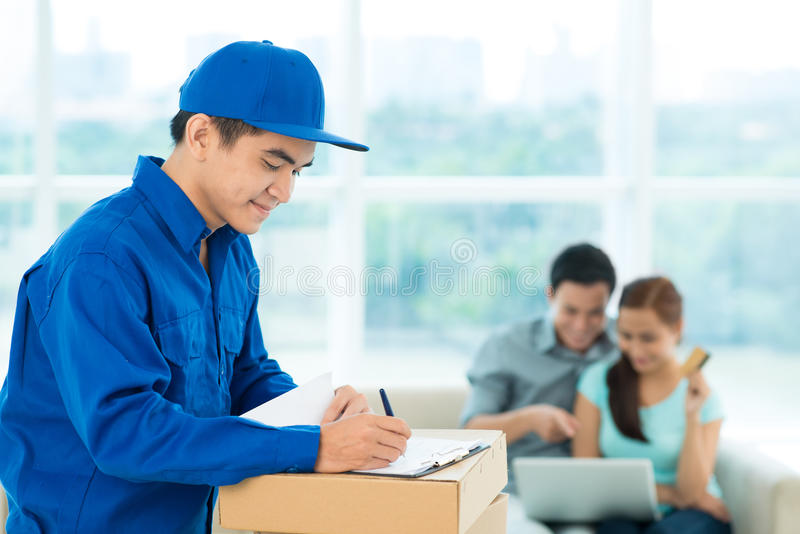 Instant delivery royalty free stock images