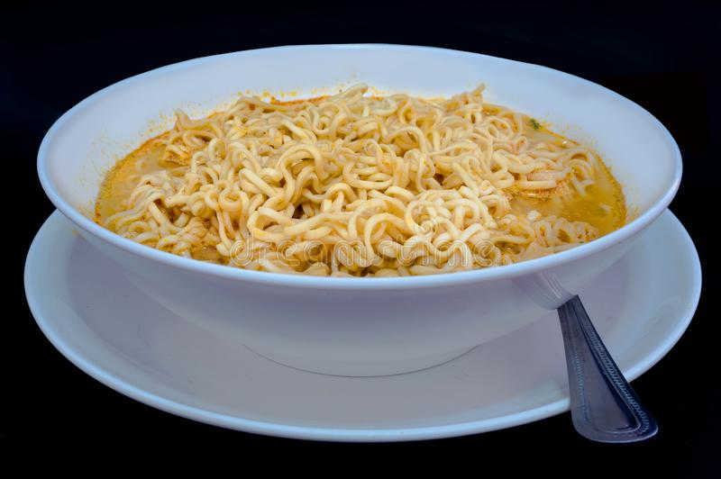 Instant noodle,Cheap food is low in nutritional value.  stock photos