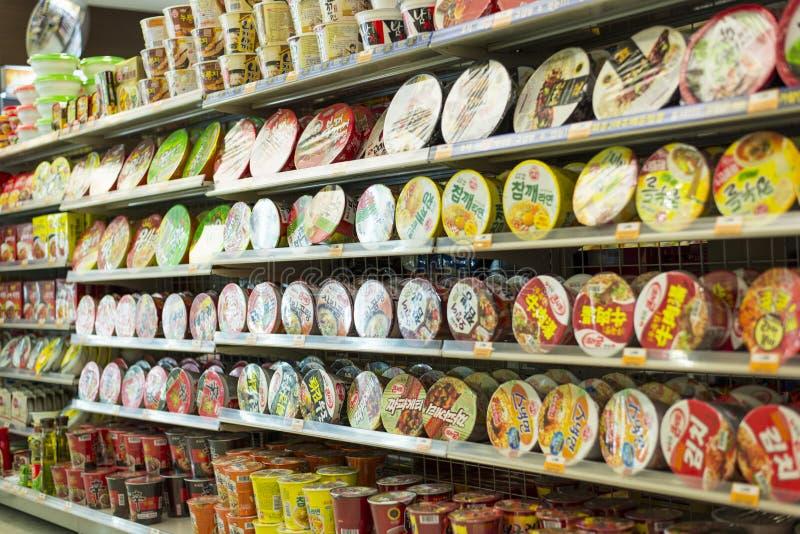 Download Instant Noodles editorial stock image. Image of shelves - 27484094