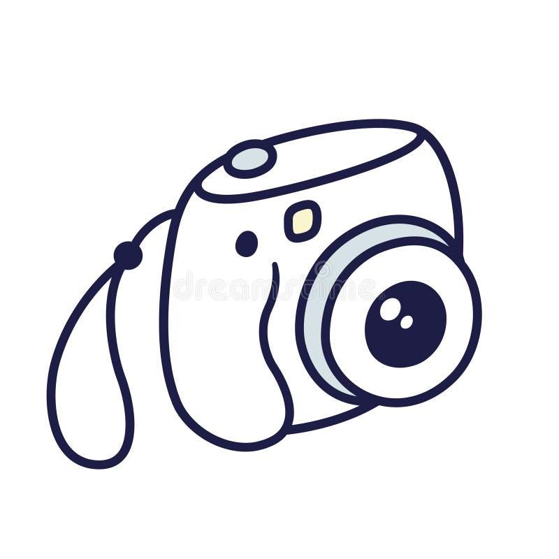 Instant photo camera vector illustration
