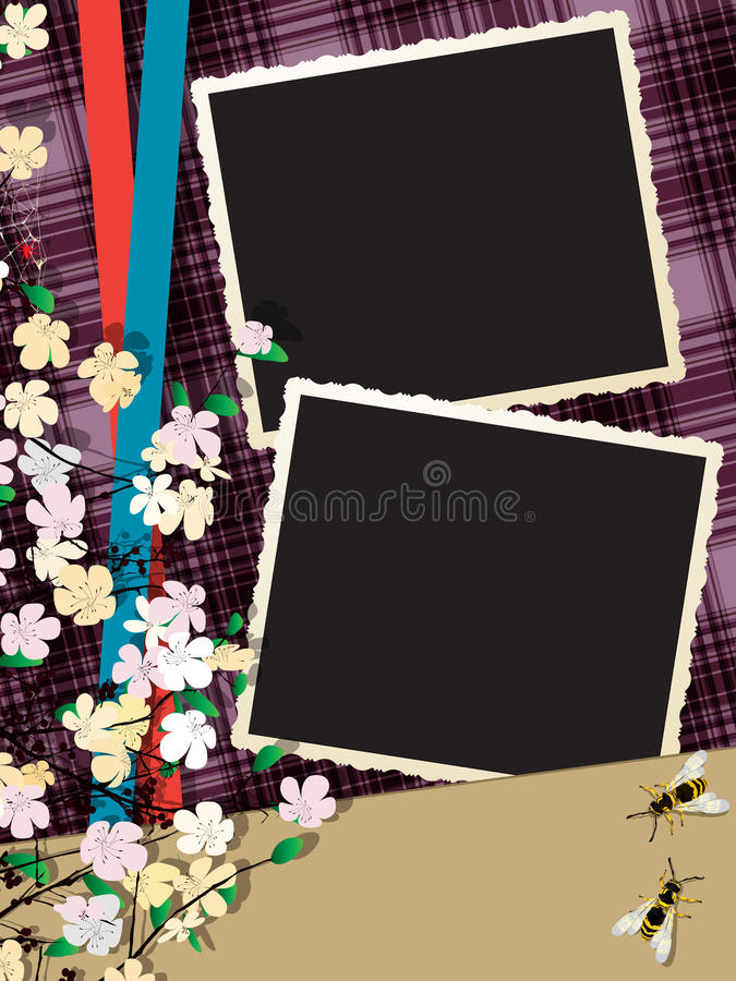 Download Instant photo collage stock vector. Image of postcard - 32917633