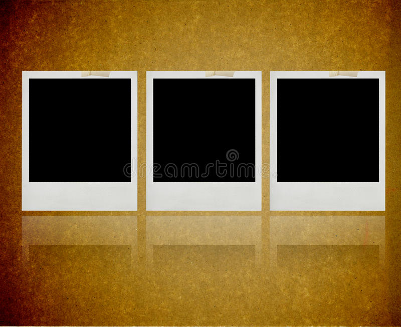 Download Instant Photo Frame Against A Grungy Texture Stock Image - Image: 9786675