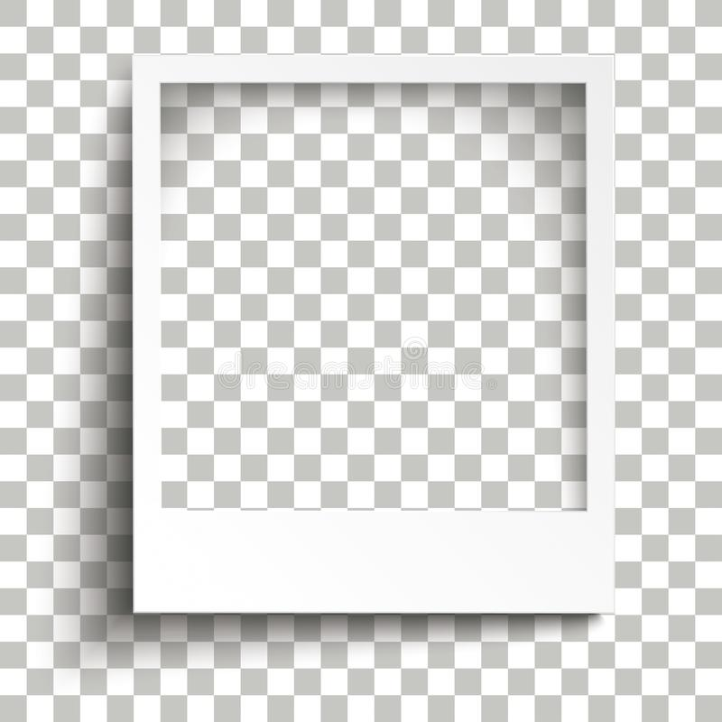 Instant Photo Frame Transparent Shadows royalty free illustration
