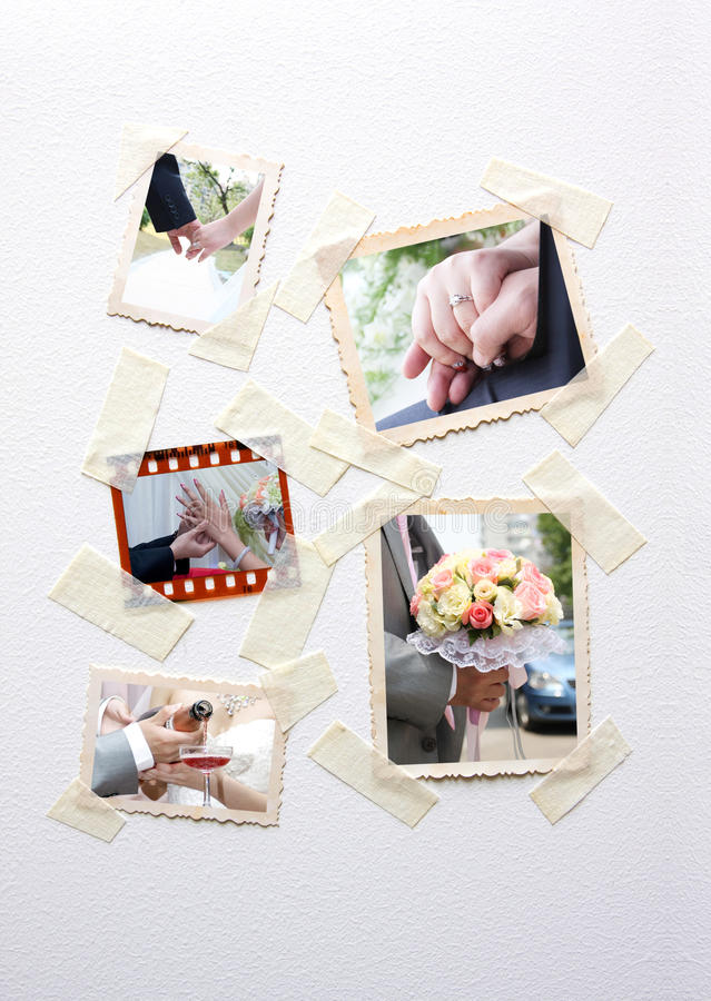 Instant photo frames set royalty free stock images