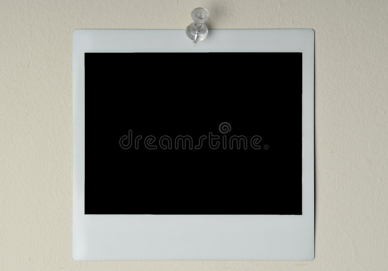 Download Instant photo on a wall stock photo. Image of pushpin - 7991416