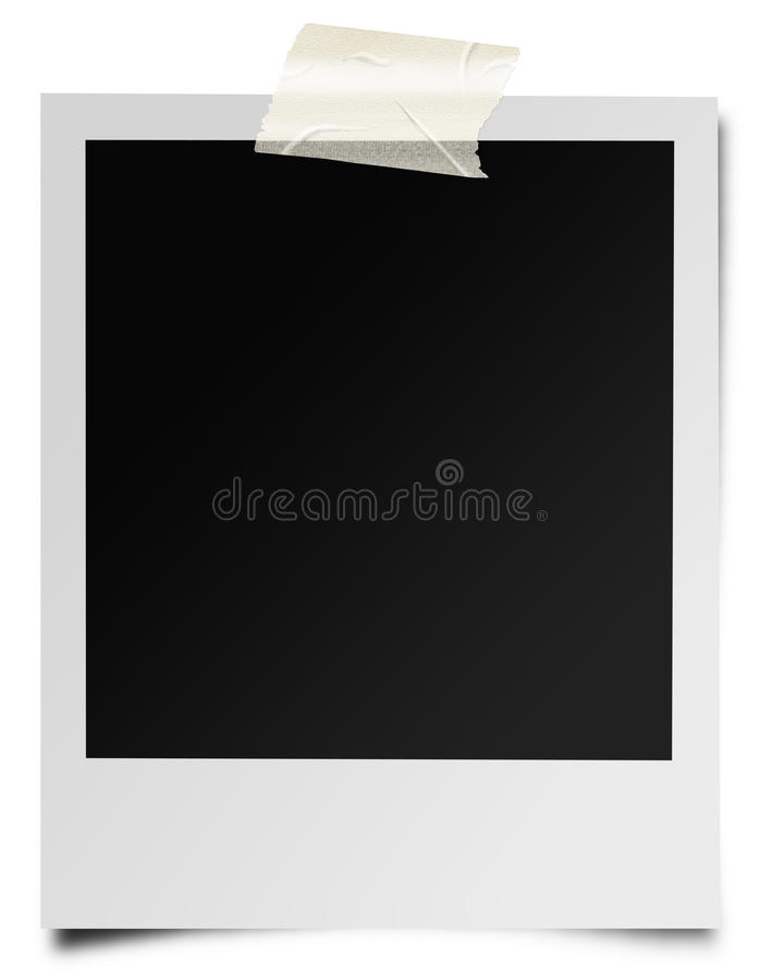 Instant photographic film vector illustration