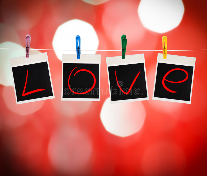 Download Instant Photos With Love Word Stock Illustration - Image: 28480864