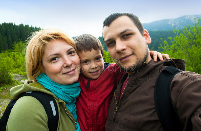 Instantané de voyage de famille photographie stock libre de droits