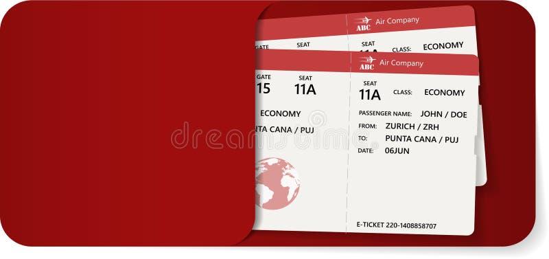 Instapkaart twee binnen van rode envelop royalty-vrije illustratie