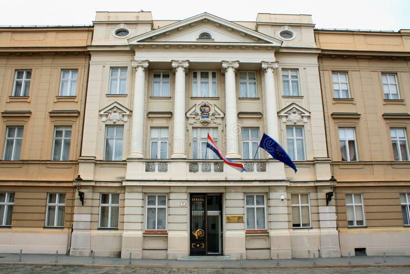 Institución del gobierno, Zagreb, Croacia foto de archivo