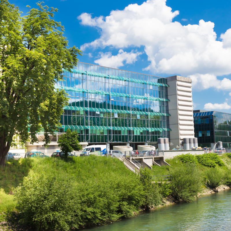 Institut av Oncology Ljubljana, Slovenien royaltyfria foton