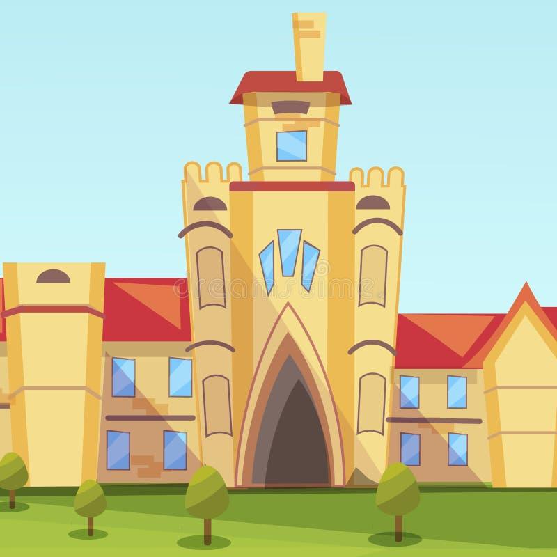 Institut de bâtiment d'illustration de concept de vecteur illustration de vecteur